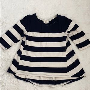 Nautical striped cotton sweatshirt